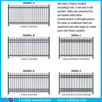 z post fence metal fence panels