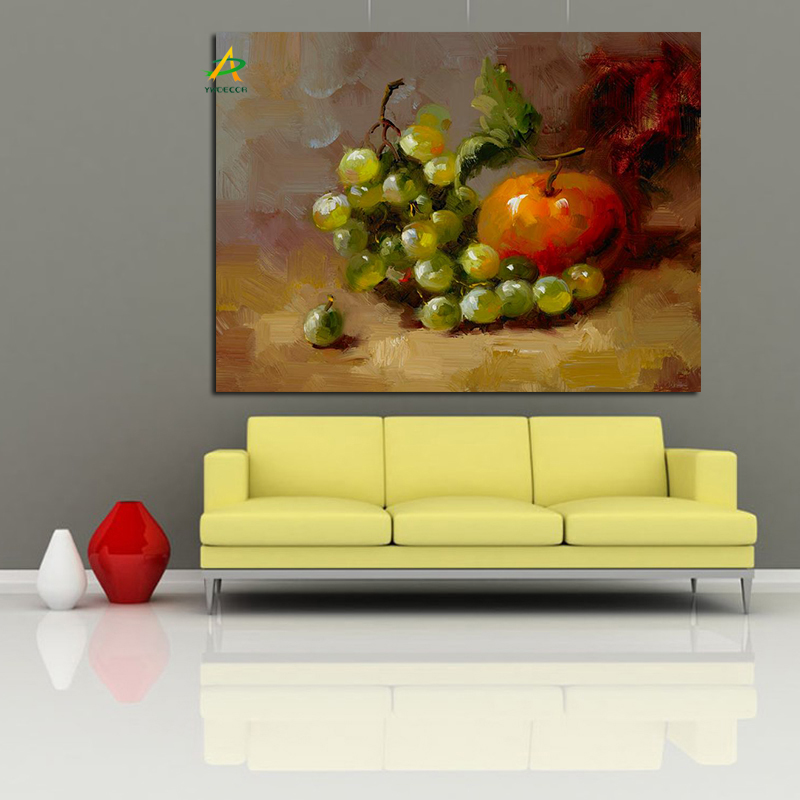 Fractory price impressionist canvas painting apple and grape fruit oil painting drop shipping