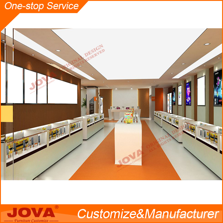 Digital products display showcase cellphone showroom furniture for cell phone store design