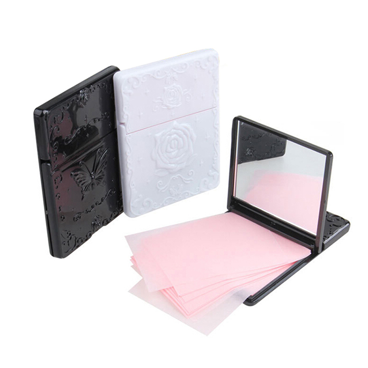 Facial blotting paper rose butterfly mirror oil absorbing sheets