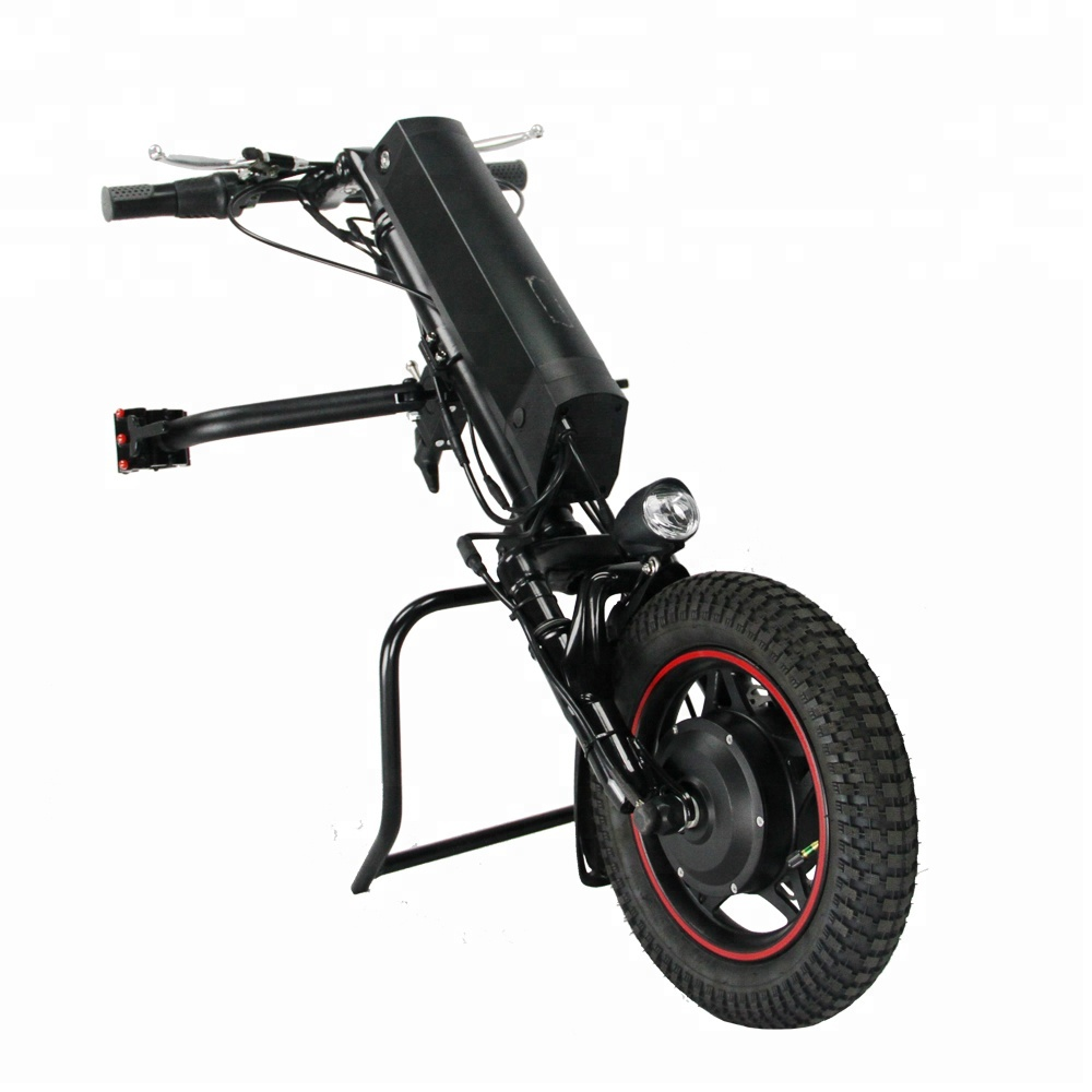 Newest 36v 350w Electric Wheelchair Handcycle with Suspension Fork