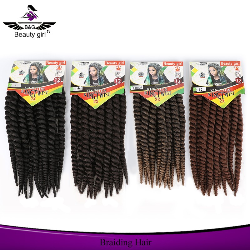 Hot new product african american hair braiding styles wholesale synthetic hair for braiding