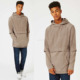 Cheap Wholesale Fashion Men's Clothing Long Sleeve 100% Cotton Brown Fleece Slim Classic Fit Hoodie