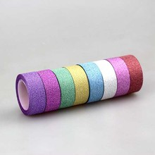 Gift packing decorative adhesive glitter tape