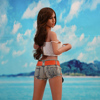 JND04-145cm Beach Sunshine Girl Silicone big ass sex doll sex toy girl doll