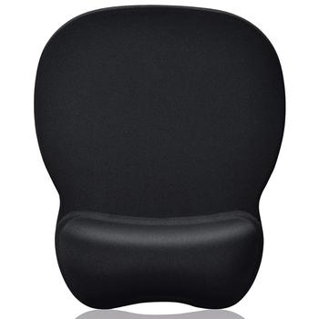Hot sell Gel Mouse Pad with Wrist Rest- gel filled wrist rest with PU base anti-slip mousepad