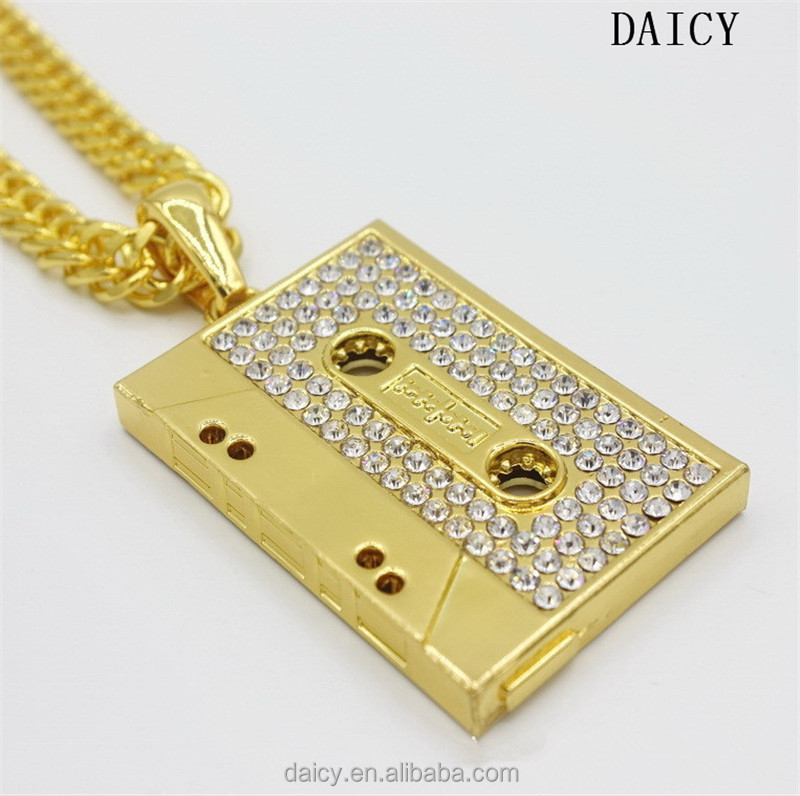 DAICY top quality hiphop bling bling pendant men's gold hidden pendant recorder