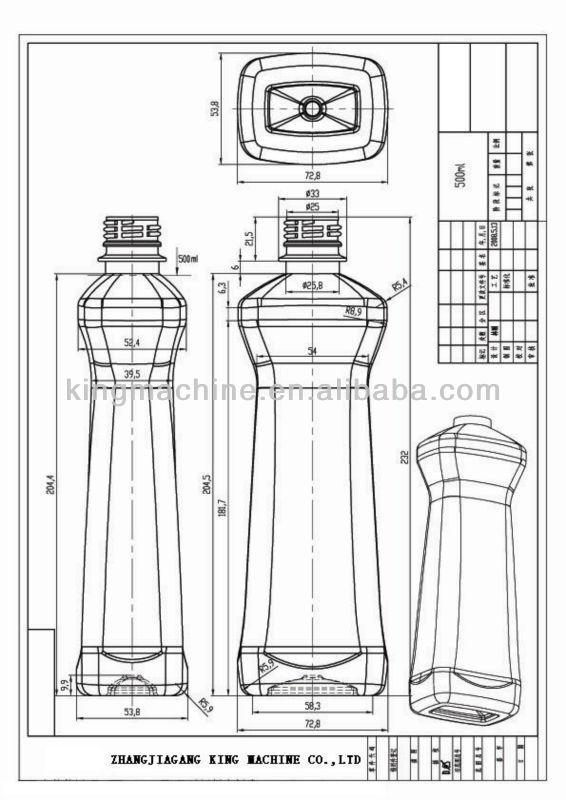 semi automatic pet blowing machine to make plastic bottles