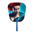 Famous Movie Star 16x17cm 3d Hand Fan Custom Lenticular Printing With Blue Handle