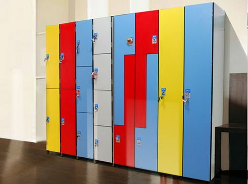 high density  hpl school   lockers