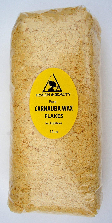 Carnauba Wax Organic Flakes Brazil Pastilles Beards Premium Prime Grade A 100% Pure 16 oz, 1 LB