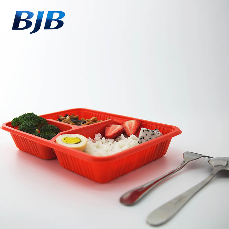 BPA Free 3-compartment Reusable Plastic Bento Lunch Box