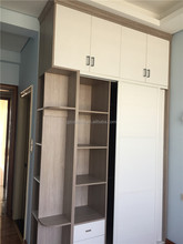 Economical cheap price bedroom wardrobe apartment interior bedroom furniture(FOH-WCE1021)