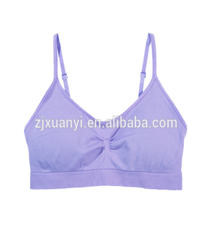 Manufactory In China Supply Women Thin Straps Tube Tops Famale Adjustable Fitness Camisole Girls Padded Top Wear