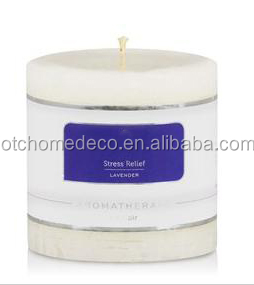 NEWEST WHITE AROMA PILLAR CANDLE