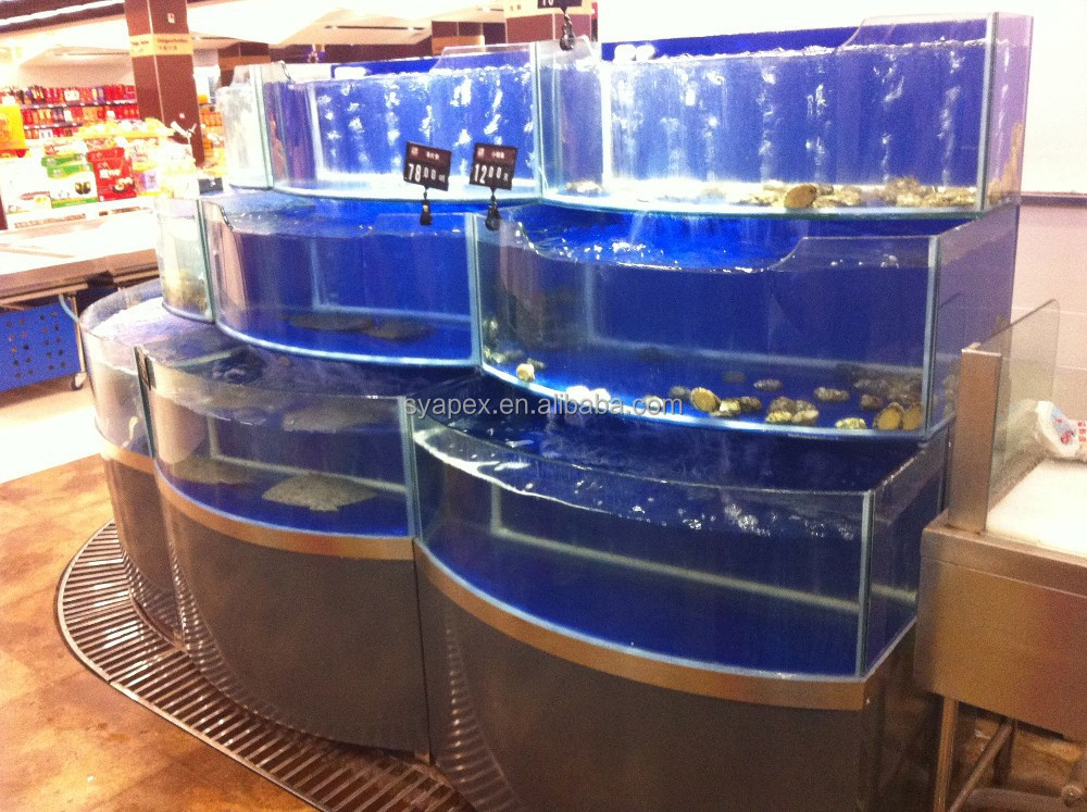 Apex Supermarket Or Restaurant Custom Make Large Cylinder Aquarium ...