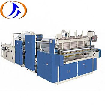 Automatic Toilet Tissue Paper Roll Perforating Embossing Rewinding Making Machine