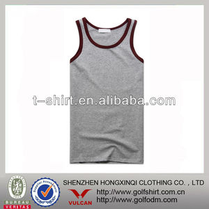 men underwear gray tank tops simple design vest