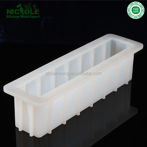 Nicole Tall And Skinny Mold Silicone Loaf Soap Mold DIY Swirl Soap Crafts Moulds