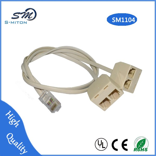 Rj11 Male To Rj45 Female Extension Telephone Cord Rj11 To