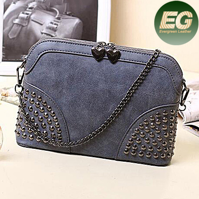 2017 hottest handbags Simple style ladies stylish bags color collision bag studded bag SY6692