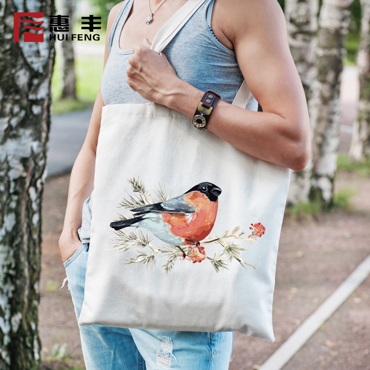 Promotional Organic Cotton Calico Tote Bag ,Advertisement Bags Cloth Bag