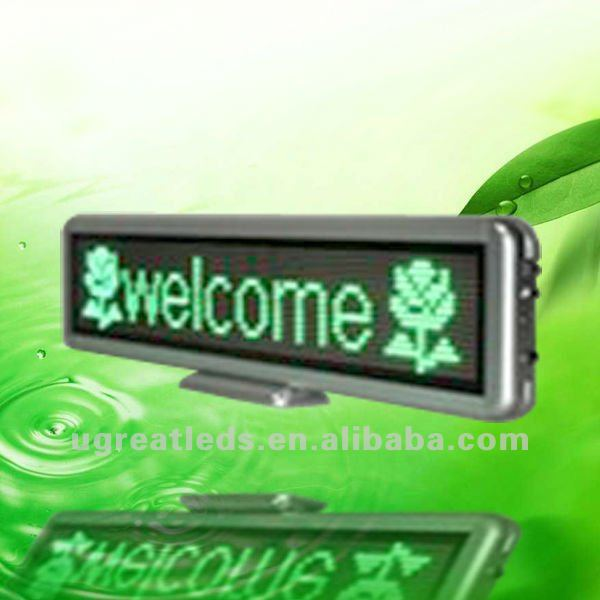 USB Rechargeable Battery Led Desk Sign
