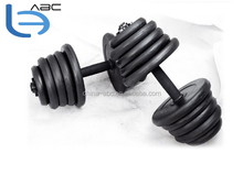 home gym 10kg to 50 kg chromed rubber dumbbells set