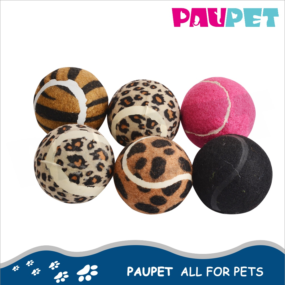 2017 New top selling pet dog play training custom coloured dog tennis ball