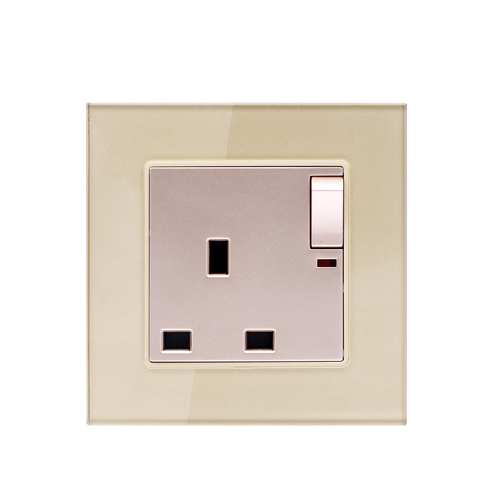 Smartdust 3 Pin 1 Gang <strong>BS</strong> 13 Amp LED Indicator Electric Power Plug Wall Switch <strong>Socket</strong>