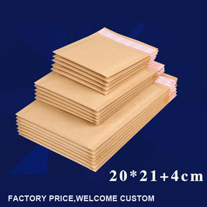 Wholesale Padded Brown Kraft Paper Bubble Envelope 20*21+4cm 18g/pc