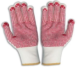 MHR Red pvc coated oil resistant safety gloves big hands glove