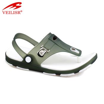 e9eec2c18 Latest design beach clear PVC footwear jelly shoes men sandals