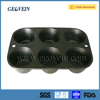 Factory Wholesale Supplier Cast Iron Hamburger Bun Muffin Pan For Baking Tray With Wide Side
