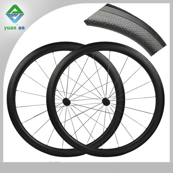 700c 45mm depth 25mm width carbon dimple wheels dimple surface matte or glossy carbon road bicycle wheels