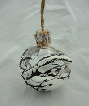 Unique hanging glass ball ornaments for holiday decorations
