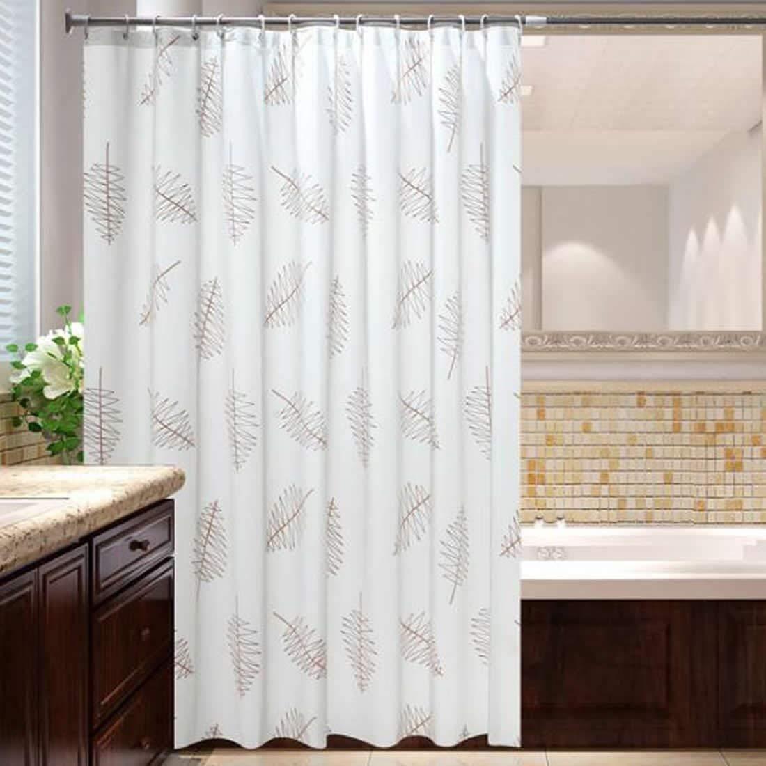 Mangetal Shower Curtain Liner Mildew Resistant Anti Bacterial Waterproof Water  Repellent Long Fabric Shower Curtains For ...