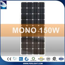Perlight Ce Approved 150w Photovoltaic monocrystalline solar panel