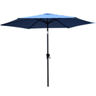7.5FT 6 Steel Ribs Courtyard Leisure Ways Sunshade Outdoor Sun Umbrella
