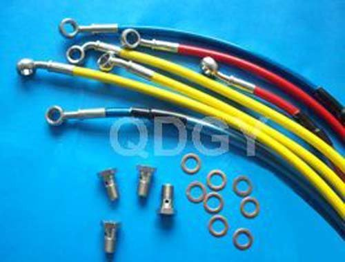Stainless Steel Braid Brake hose ATV SCOOTER MOTORCYCLE MODIFIED TUNING and iron pipe fitting
