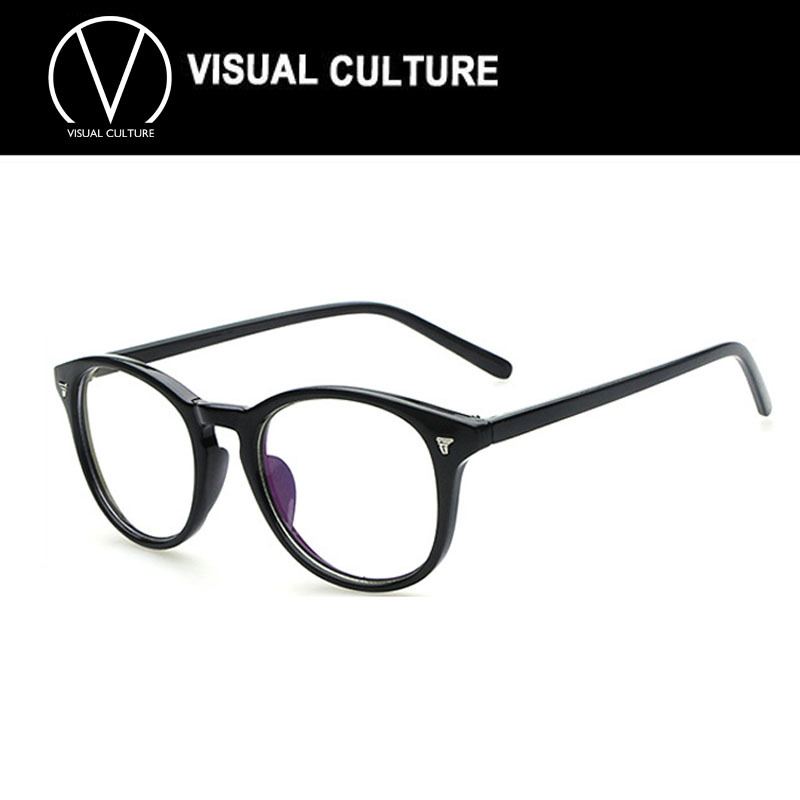 037578e27a1 Buy Women round oval eyeglasses frame high grade light weight Spectacles  plain glasses men vintage retro design C006 - GOGO Fashion Store store at  ...