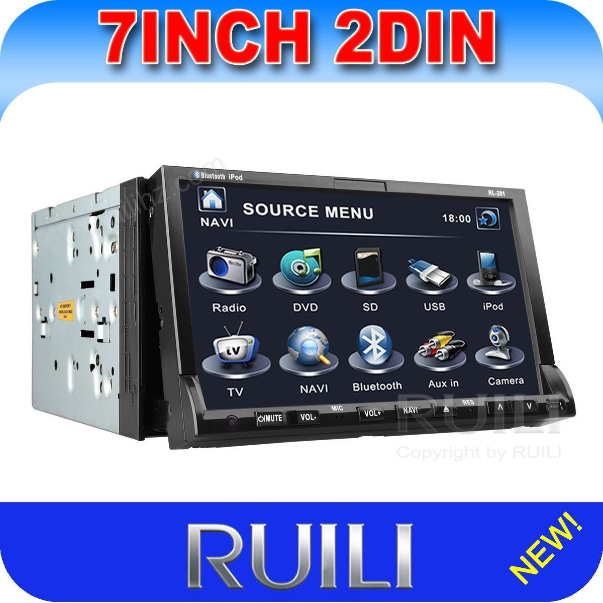 2 Din Car Dvd Player With Bluetooth Car Audio Systems