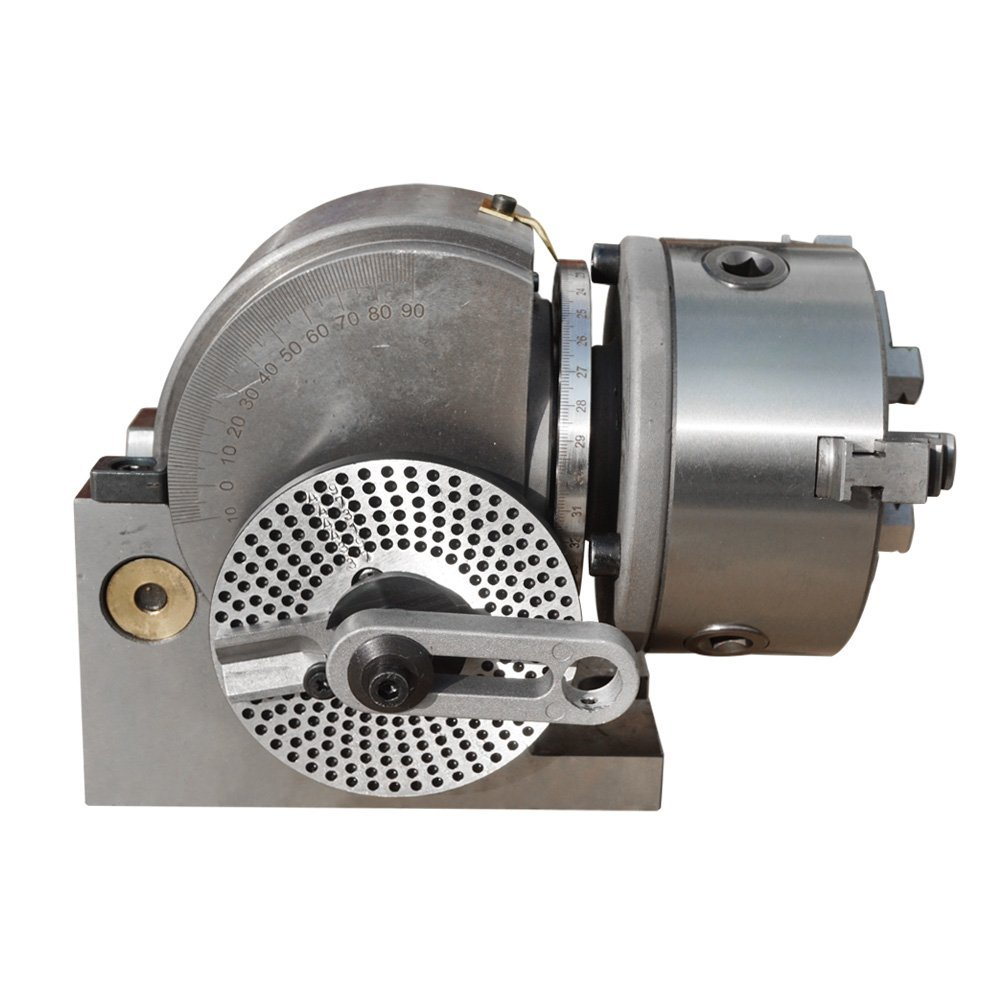"""BS-0 Dividing Head Set W// 5/"""" 3 Jaw Chuck /& Tailstock Milling Horizontal Indexing"""