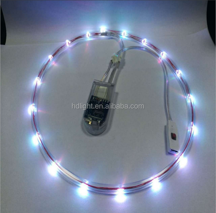 Flexiable Wearable Led Shoes Light Flashing Rechargeable Usb Led ...