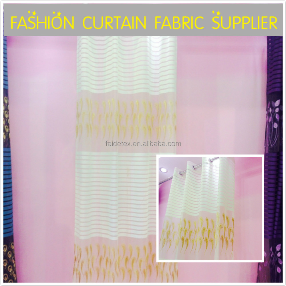 Embroidery textile net curtain fabric