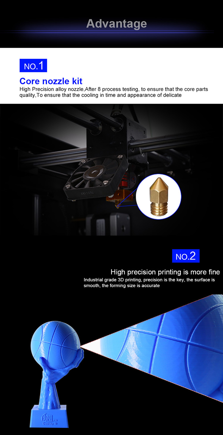 Creality high precision industrial grade 300*300*400mm CR-3040 3D printer