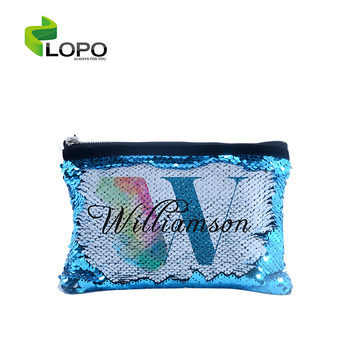 Heat Transfer Blank Magic Sequin Small Hand bag For Sublimation Printing