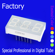 common anode/ cathode color blue 30*12.8*7mm 0.39 inch 3 digit 7segment led numeric display