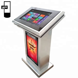 double sided/dual interactive network advertising board display service kiosk