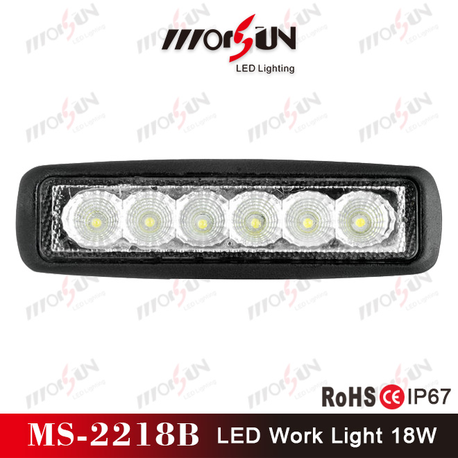 "6"" 18W led mini car lamp cheap price, waterproof IP67 led auto light, boat, yacht, tractor trailer light"